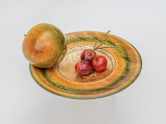 Dennis Hales - Apple and Cherry Gilt Plate